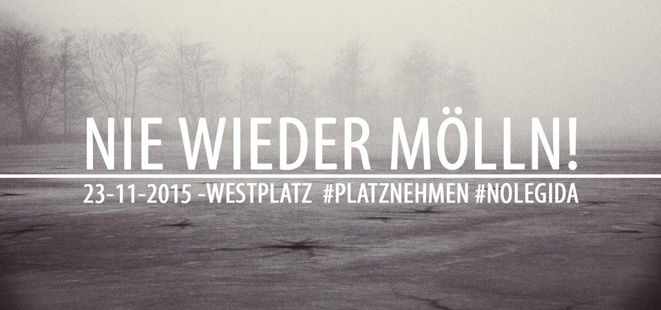 #platznehmen 23. November 2015: Nie wieder Mölln! Erinnern erkämpfen!