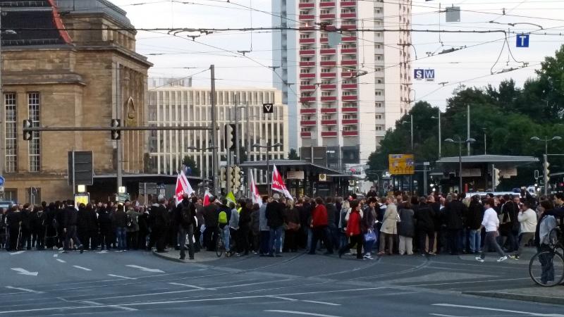 Protest gegen Legida am 21.09.20015