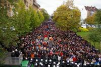 17. Oktober 2009 - Ziviler Ungehorsam in Leipzig