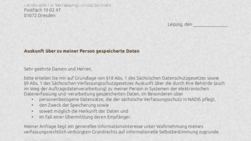 PM: Welche Daten hat der sächsische Verfassungsschutz?