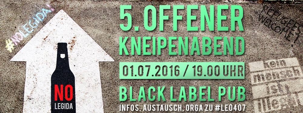 5. Offener Kneipenabend #NoLegida