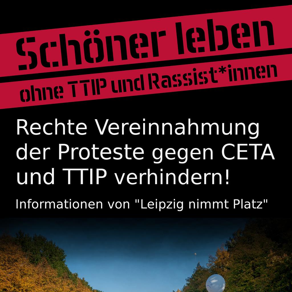 Gemeinsam gegen TTIP und Rassismus! Solidarität geht nur international!