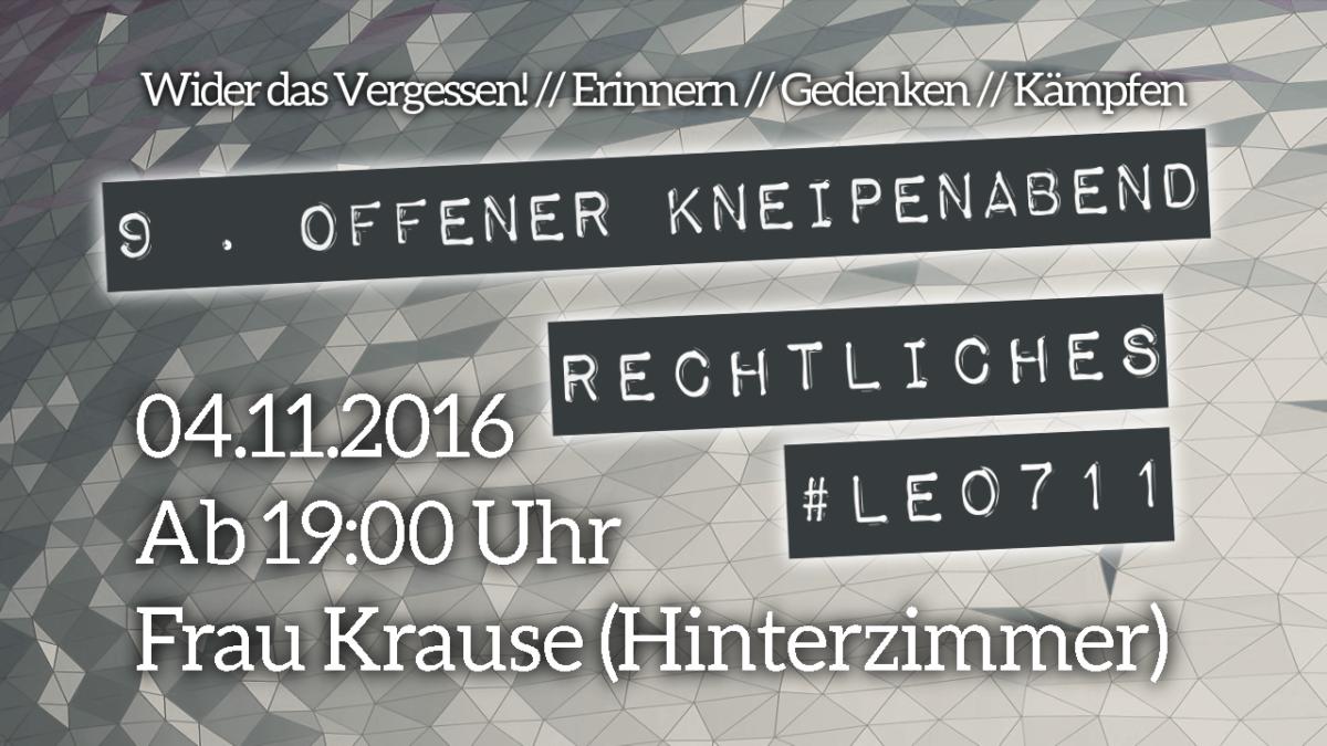9.Offener Kneipenabend am 4.November
