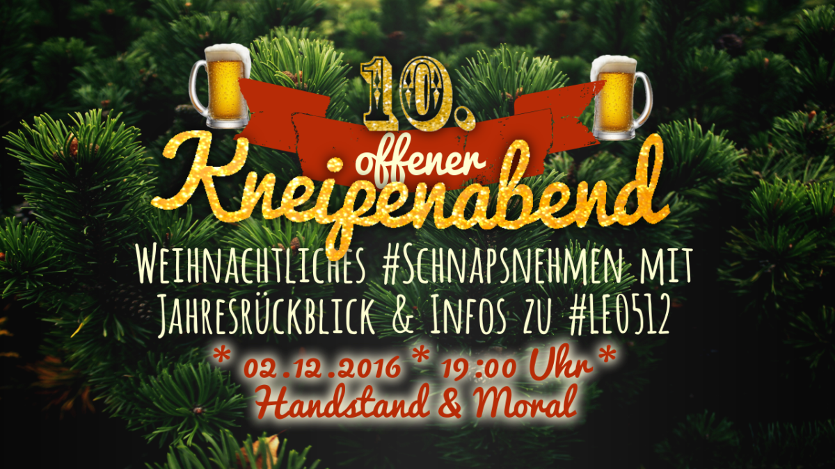 10. Offener Kneipenabend