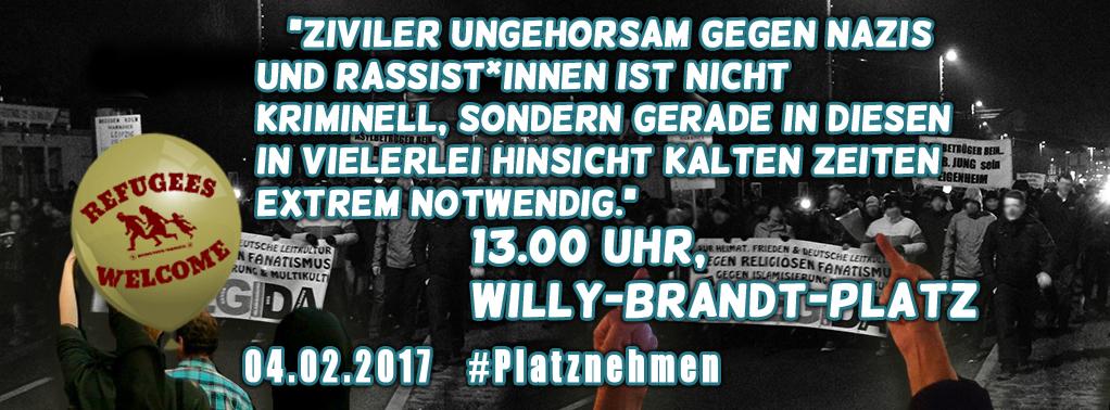 """PM: Das Aktionsnetzwerk """"Leipzig nimmt Platz"""" lädt zum solidarischen Neujahrsempfang."""