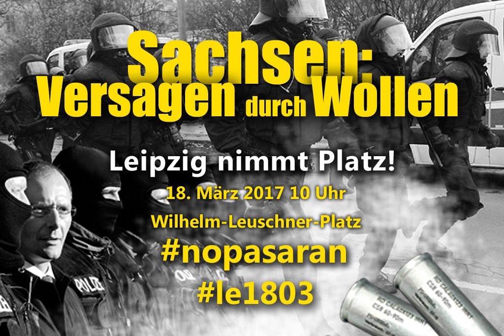 Aufruf zur Demonstration am 18. März