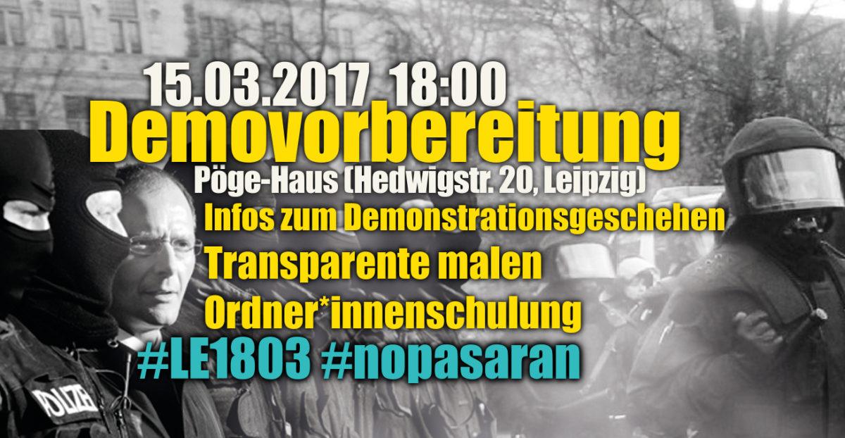 PM: Praktische Demovorbereitungen im Vorfeld der Proteste am 18. März