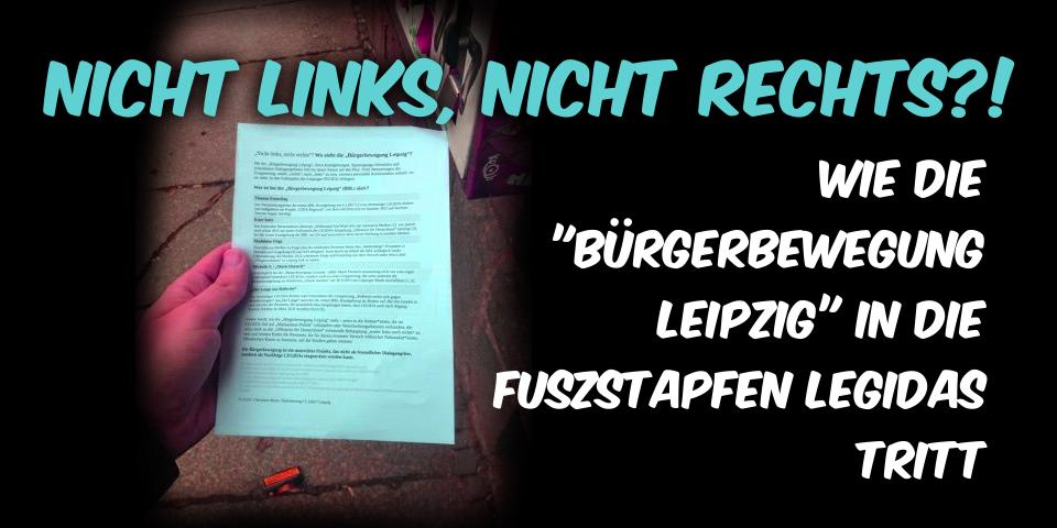 """Redebeitrag """"Die Bürgerbewegung Leipzig"""""""