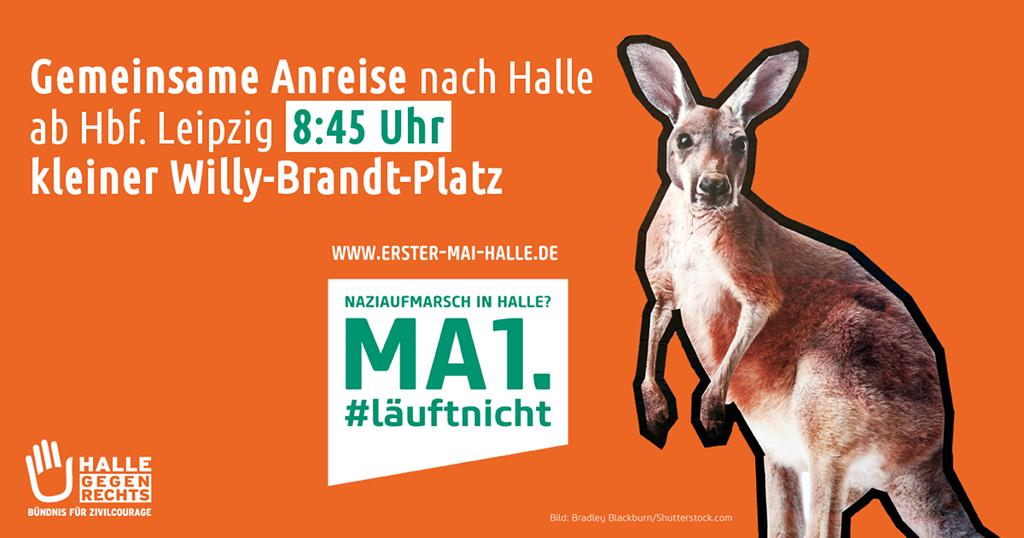 Gemeinsame Anreise aus Leipzig gegen den Aufmarsch von DIE RECHTE am 1. Mai in Halle