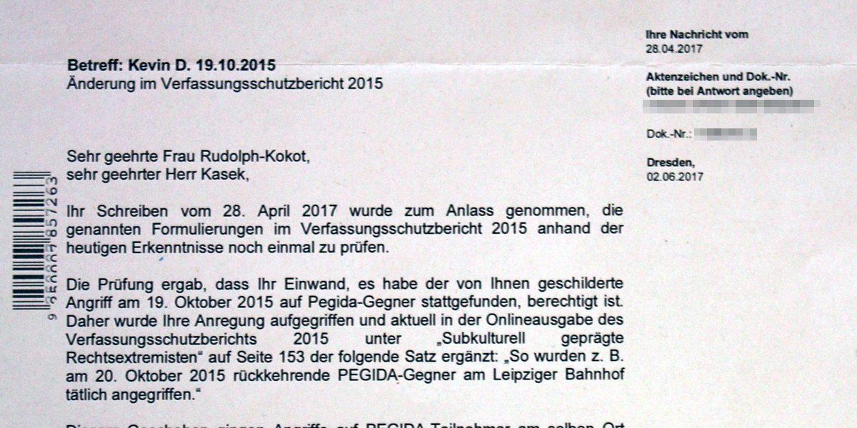 Sächsischer Verfassungsschutz korrigiert Fehler im Bericht 2015
