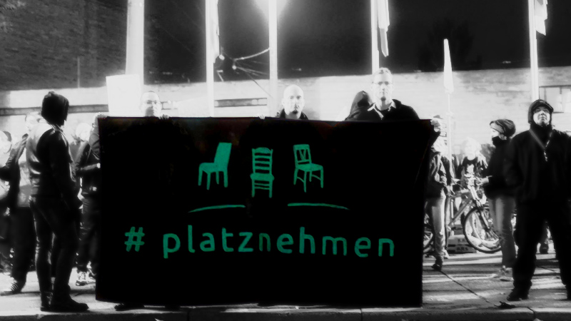 Spontandemo gegen den Einzug der AfD bei der Bundestagswahl am 24.09.17 vor dem Neuen Rathaus Leipzig