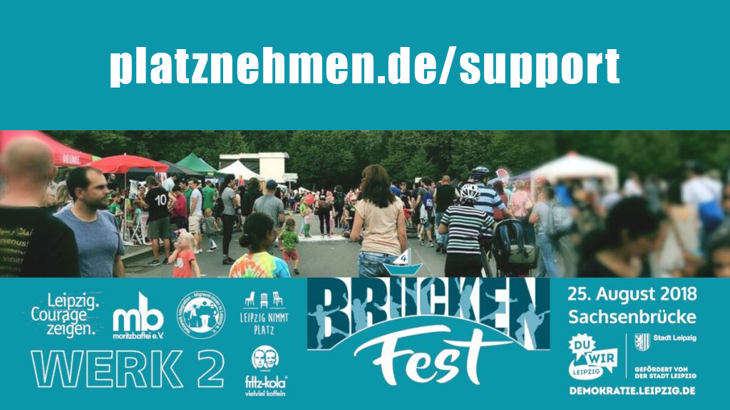 PM: Das Leipziger Brückenfest sucht Unterstützung