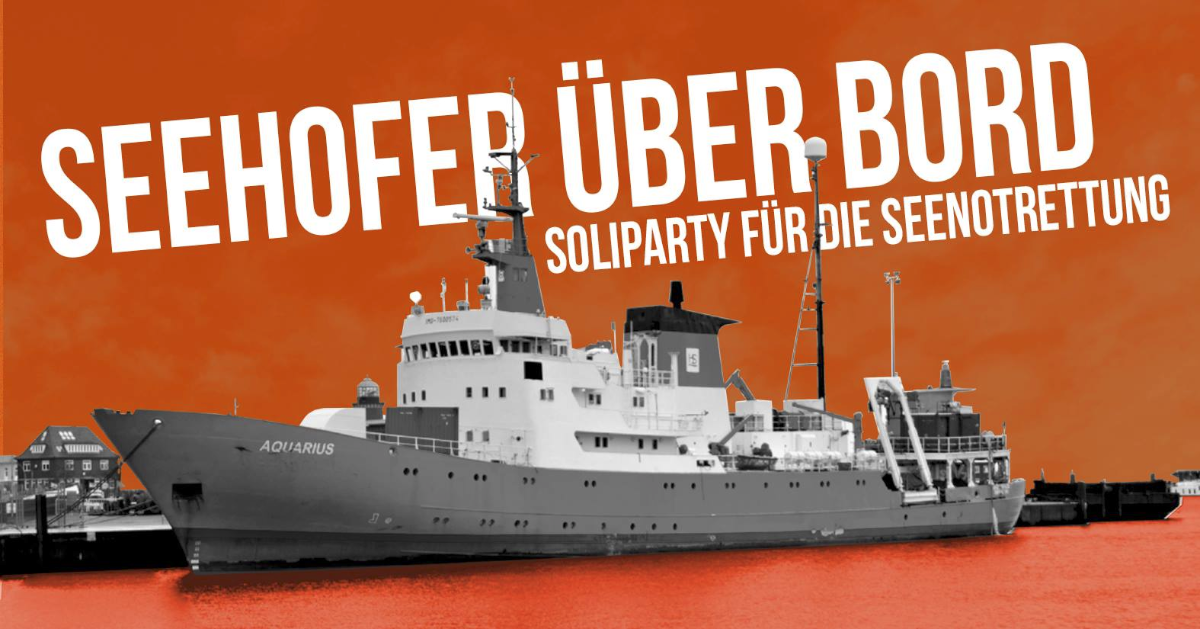 Soliparty Seenotrettung 14. September 2018