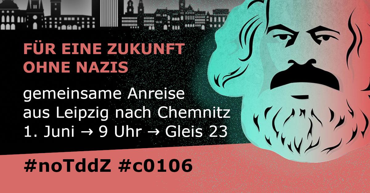 Gemeinsam nach Chemnitz fahren – Nazis den Tag vermiesen
