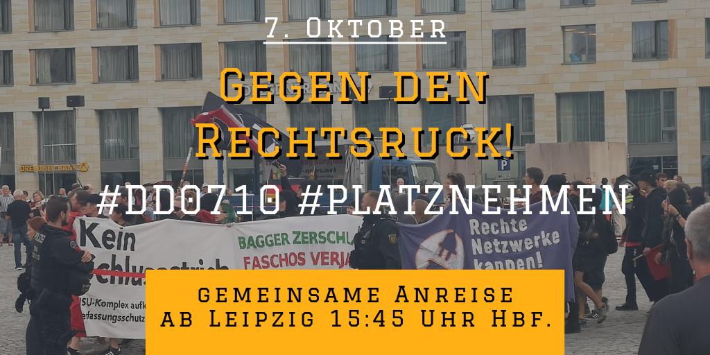 """Protest gegen Pegida: """"Gegen den Rechtsruck!"""""""