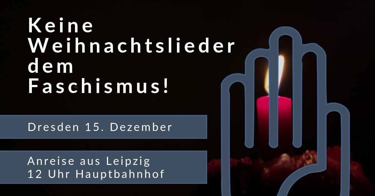 gemeinsame Anreise nach Dresden 15. Dezember 2019 #nopegida