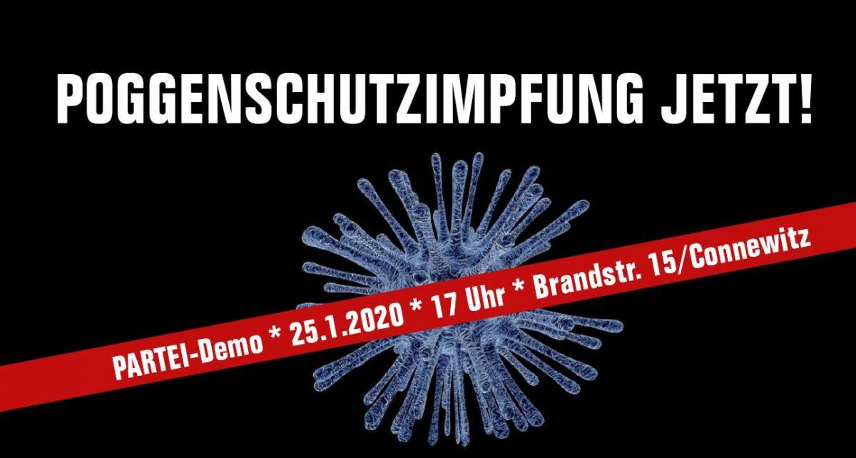 """Die Partei Die PARTEI ruft auf zur """"Poggenschutz-Impfung jetzt!"""""""