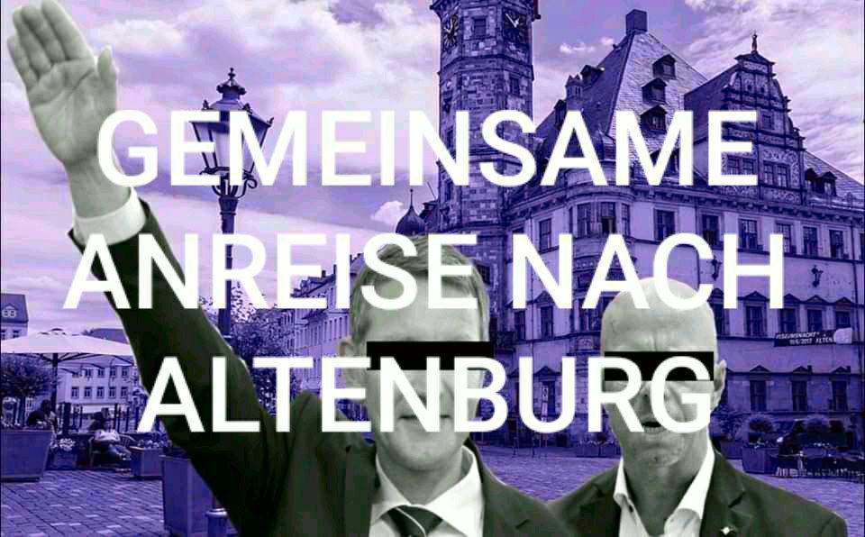 Skatstadt hat Rassisten satt! – Gemeinsame Anreise nach Altenburg