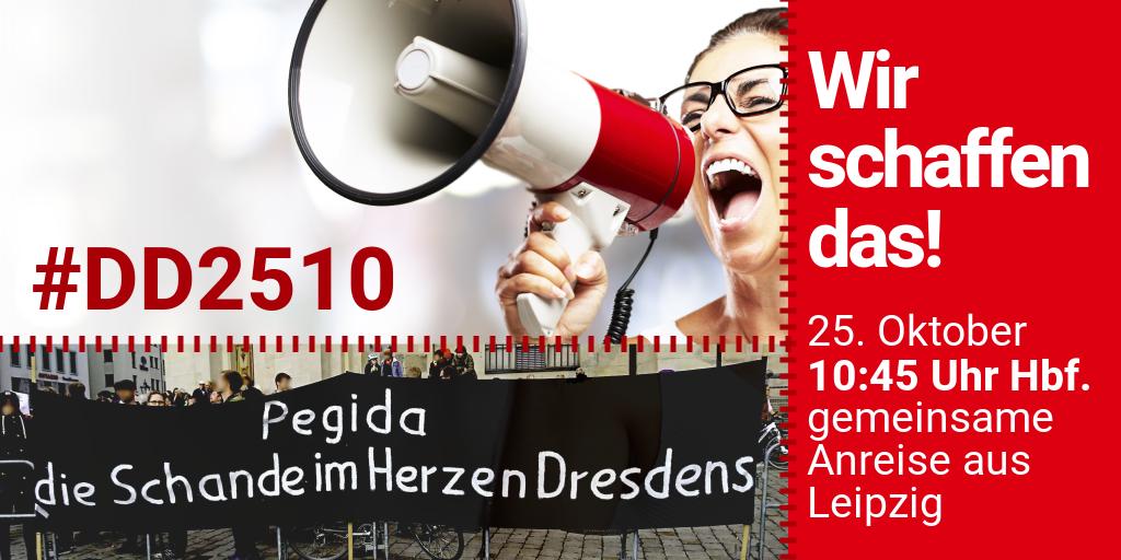Für ein solidarisches Dresden: gemeinsame Anreise am 25.10.